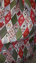 Новорічна декоративна тканина Ромб різдвяний