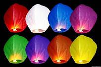 Небесный фонарик - купол АССОРТИ цвета, китайский фонарик