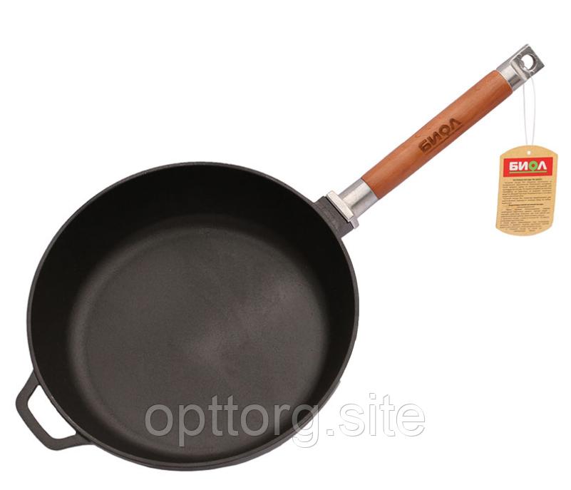 Сковорода чугунная Классик 280х66 мм БИОЛ 0328