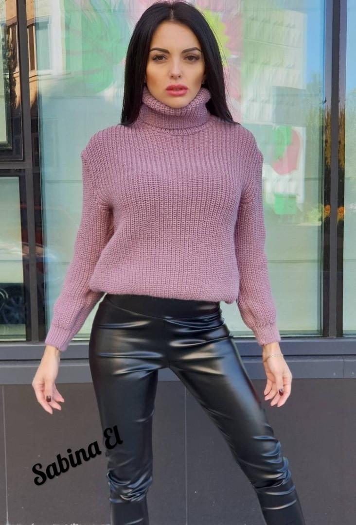 a392a93e5eb Женский тёплый вязаный свитер с горловиной в разных цветах  продажа ...