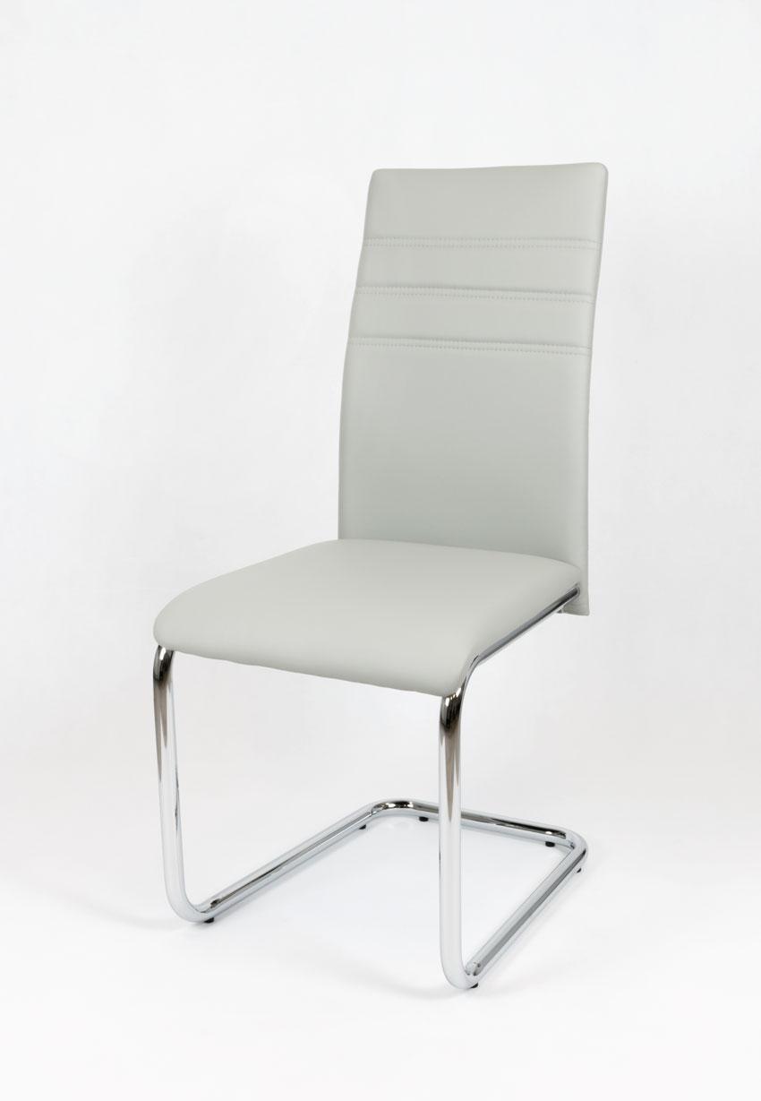 Светло-серый стул  KS024 JSZ хром