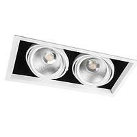 Карданный светильник LED AL212 2хCOB 30W 4000K размер 365х185х130 мм
