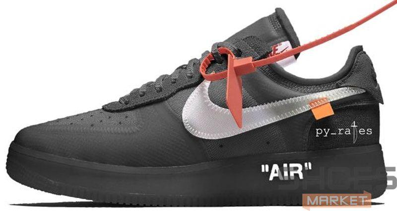 0ddfb319 Женские Кроссовки Nike X Off-White Air Force 1 Low Black — в ...