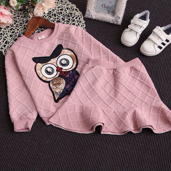 Нарядный костюм детский на девочку с юбкой сова