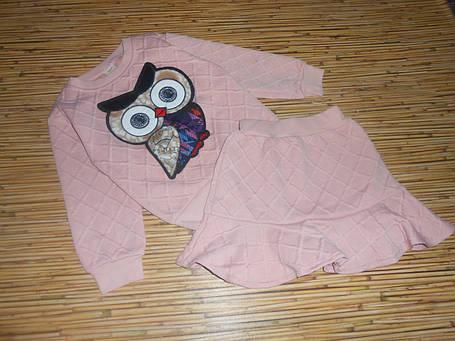 Нарядный костюм детский на девочку с юбкой сова, фото 2