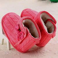 Теплые пинетки-сапожки для девочки. 11.5 см