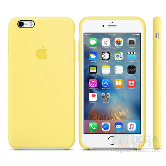 Чехол Soft Silicone Case для Apple iPhone 6/6S Желтый