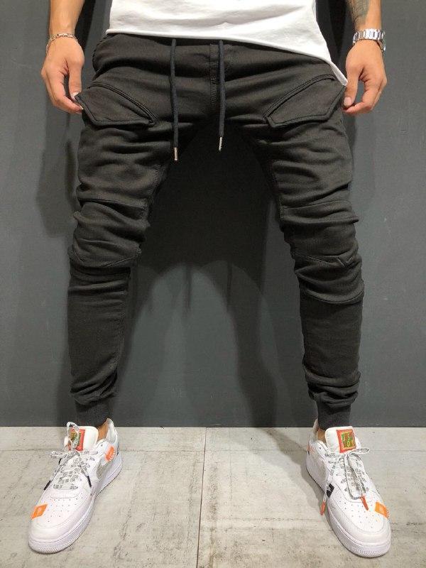 😝 Джинсы - Стильные штаны с карманами В96829