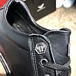 Мужские кроссовки Philipp Plein Lo-Top Sneakers Hexagonal Black, фото 5