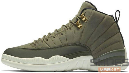 Мужские кроссовки Nike Air Jordan 12 Retro Olive Canvas, Найк Аир Джордан 12, фото 2