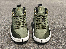 Мужские кроссовки Nike Air Jordan 12 Retro Olive Canvas, Найк Аир Джордан 12, фото 3
