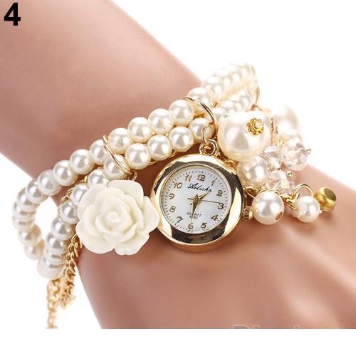 Красивые наручные часы браслет дизайн белая роза Ailisha