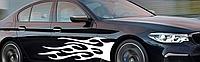 Виниловая наклейка на автомобиль Огонь, 150 см