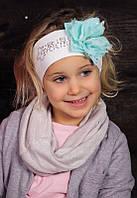 Повязка с цветком для девочек ДЖЕЛАТА оптом размер 42-44/46-48, фото 1