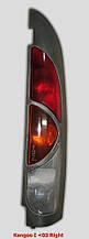 Ліхтар задній РеноКанго <03 правий 7700308714 сірий корпус розпашній б/у