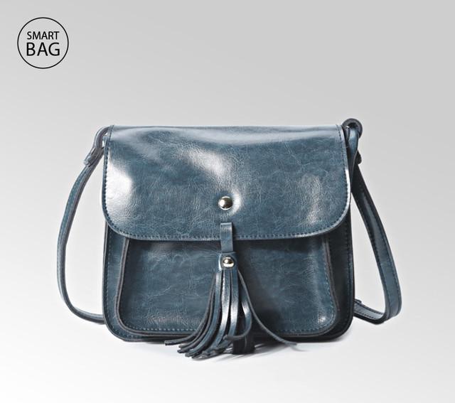 Небольшая женская кожаная сумочка | мраморная