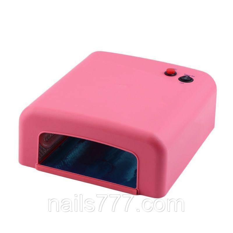 UV лампа для геля, гель лака, шеллака 36 Вт № 818 (розовая)