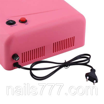 UV лампа для геля, гель лака, шеллака 36 Вт № 818 (розовая), фото 2