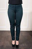Модные женские брюки Аманда бутылочного цвета, фото 1