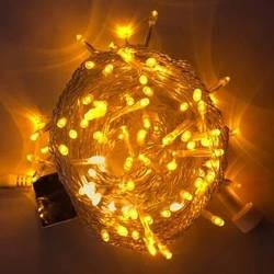 Гирлянда LED желтая 300 ламп Длина 16м на прозрачном проводе