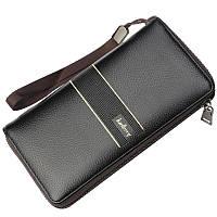Мужской кошелек, портмоне Baellerry Styling эко-кожа черный