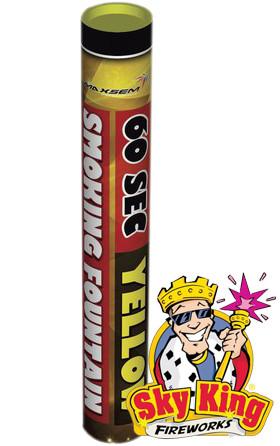 Ручной цветной дым SMOKING  для фото сессий 60 сек желтый. MA0512