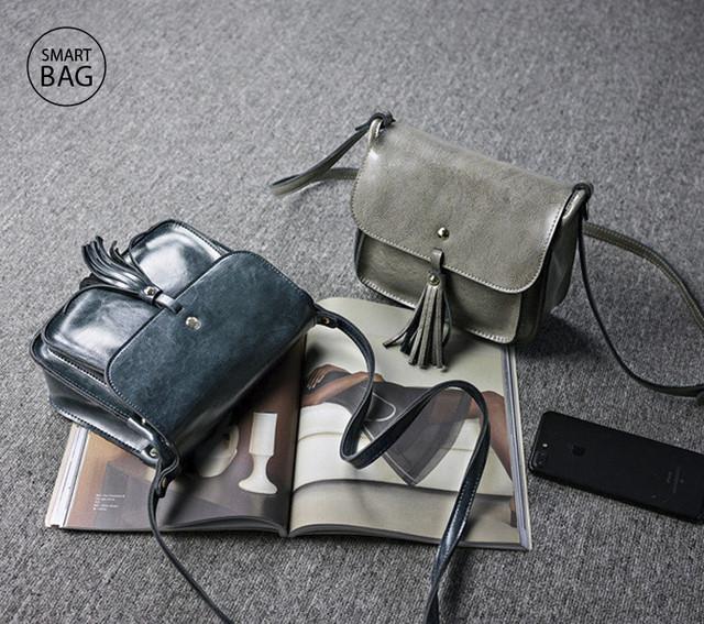 Небольшая женская кожаная сумочка | мраморная + серая