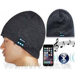 Шапка с наушниками Bluetooth Music Hat Серая