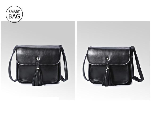 Небольшая женская кожаная сумочка | черная