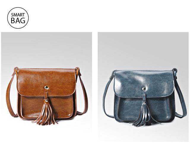 Небольшая женская кожаная сумочка | коричневая + мраморная