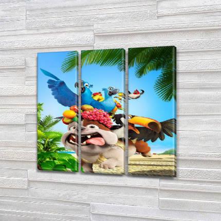 Картины триптих детские, 95x95 см, (95x30-3), фото 2