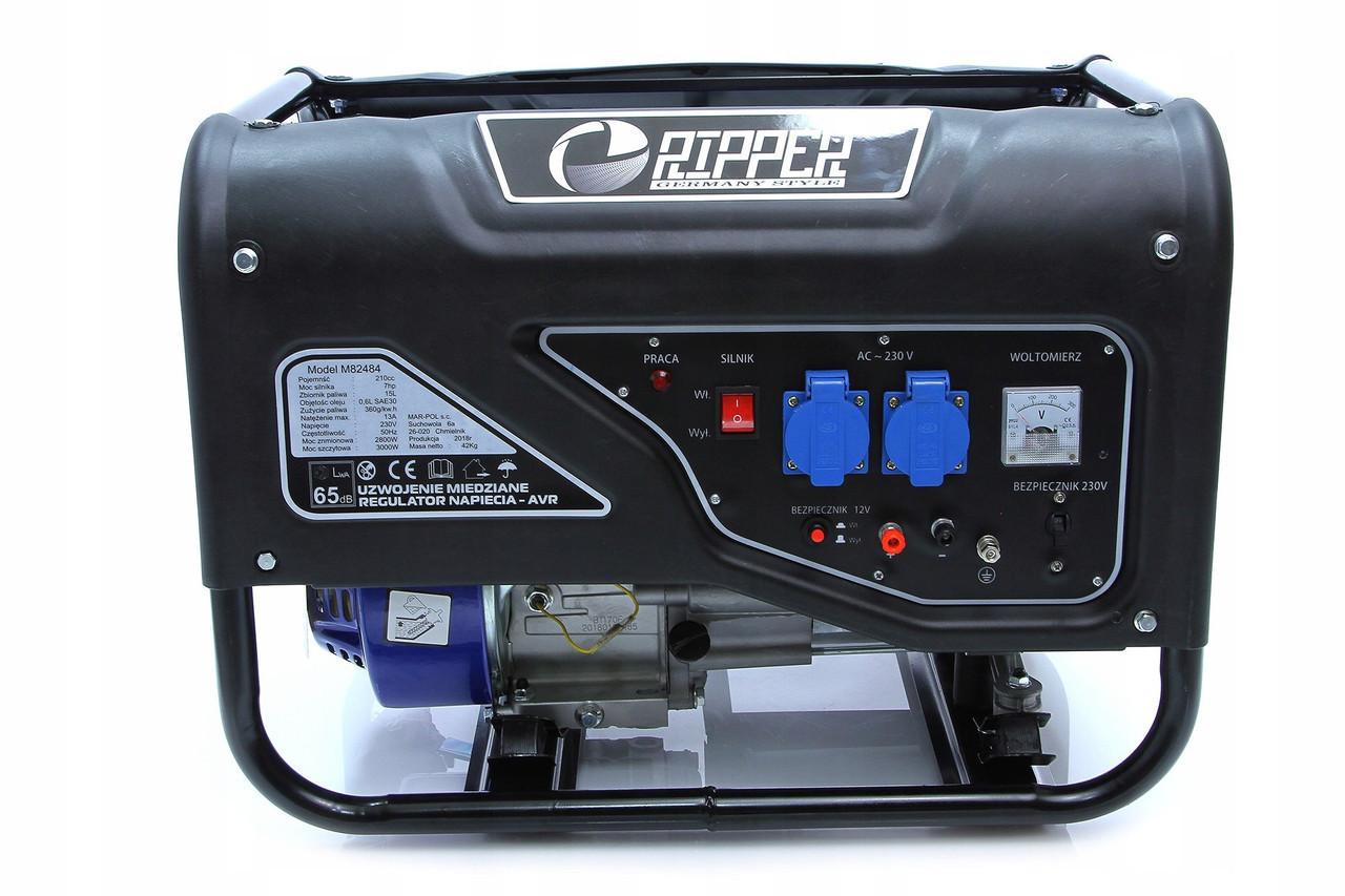 Бензиновый генератор RIPPER  M82484 3 кВт