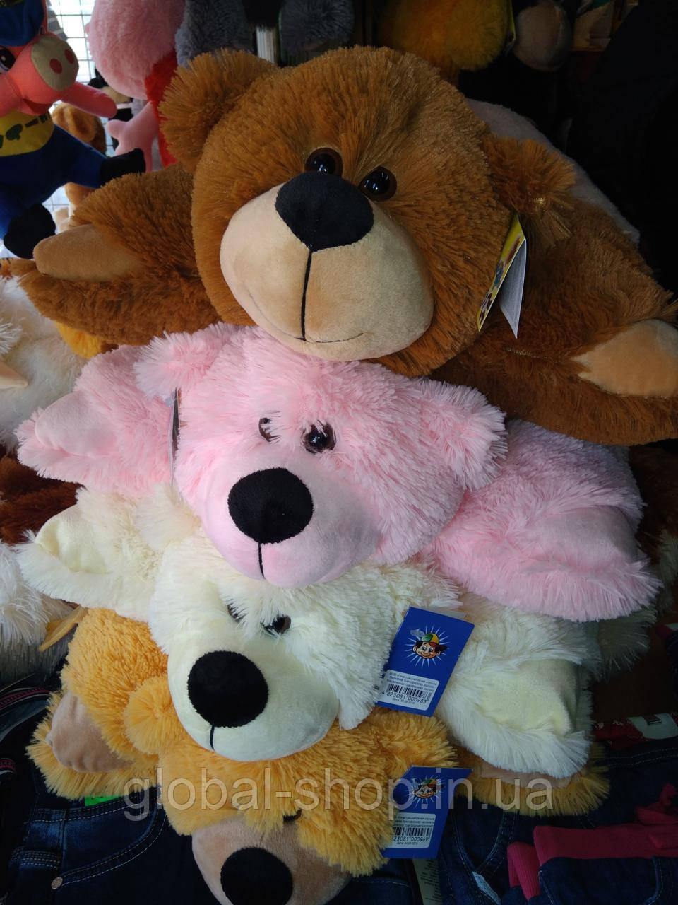 Подушка мягкая игрушка на липучке Мишка  медведь трансформер 2 в 1 ,размеры 43*43