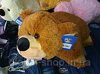 Подушка мягкая игрушка на липучке Мишка  медведь трансформер 2 в 1 ,размеры 43*43, фото 3