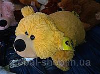 Подушка мягкая игрушка на липучке Мишка  медведь трансформер 2 в 1 ,размеры 43*43, фото 5