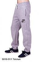 Теплые спортивные штаны с принтом, фото 1