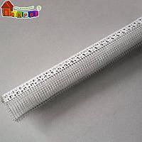 Уголок ПЛАСТИКовый перфорированный с сеткой 2,5 м