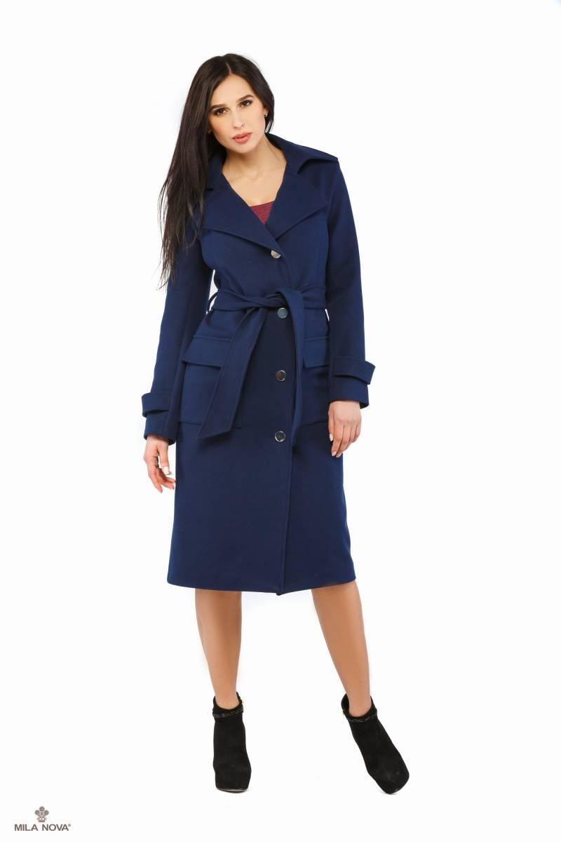 c9572764678 Mila Nova Пальто синий ПВ-17 - Интернет-магазин одежды ТОПШОП в Мариуполе