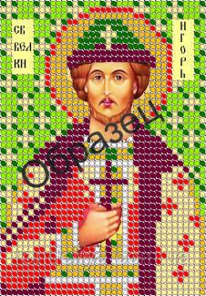 Схема для вышивки бисером «Святой Великий  Князь  Игорь»