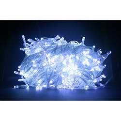 Гирлянда LED белая 500 ламп Длина 23м на прозрачном проводе