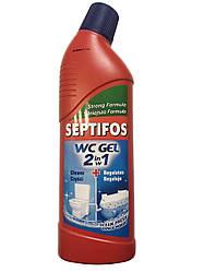 """Гель 2в1, для септика и туалета """"Septifos Gel WC 2в1,  750мл."""