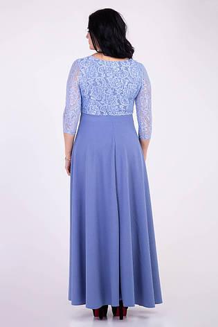 Длинное нарядное платье нежного цвета, фото 2