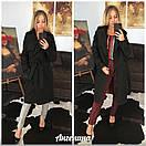 Женское кашемировое Пальто на запах под пояс 37pt127, фото 2