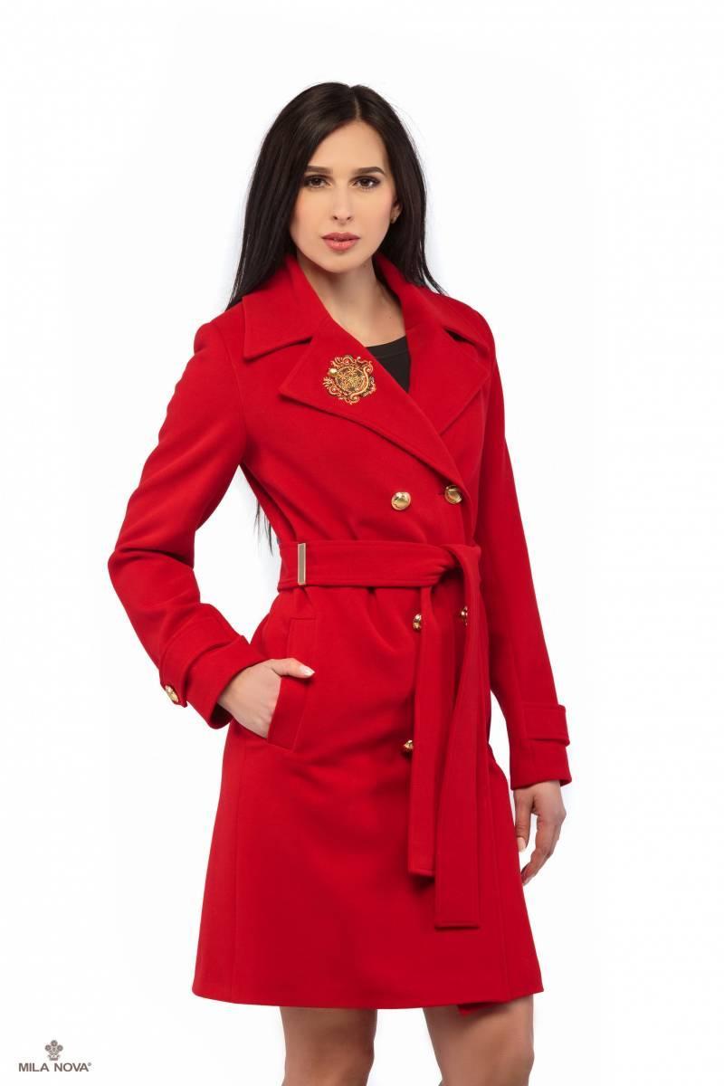2f378e84a6b Mila Nova Пальто Красный ПВ-13 — в Категории