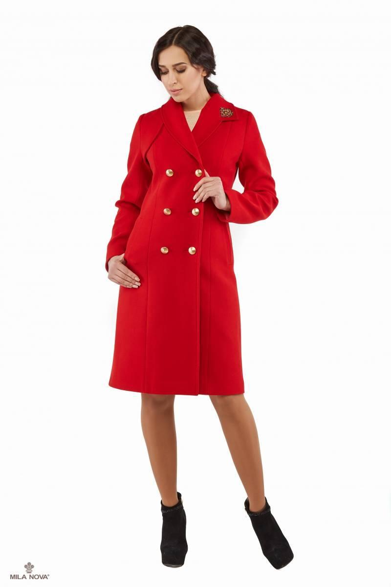 30110e79ec8 Mila Nova Пальто красное ПВ-27 - Интернет-магазин одежды ТОПШОП в Мариуполе