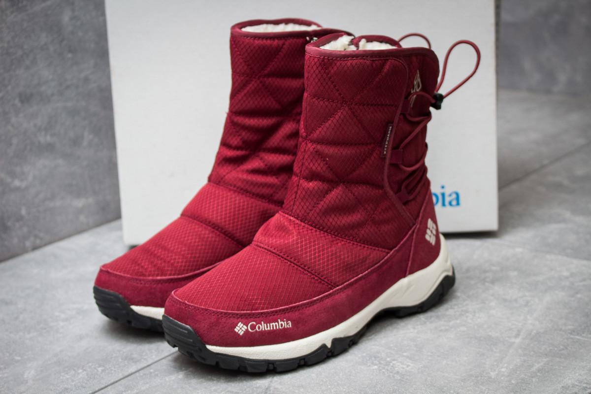 Зимние ботинки Columbia Keep warm, бордовые (30283),  [  41 (последняя пара)  ]