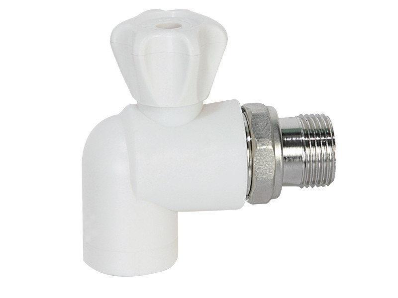 Кран радиаторный PP-R (Латунный шар) Диаметр 25*3/4 Угловой  Krakow