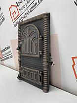 """Дверцы печные """"Кирпич"""" Чугунная дверка для печи барбекю, фото 3"""