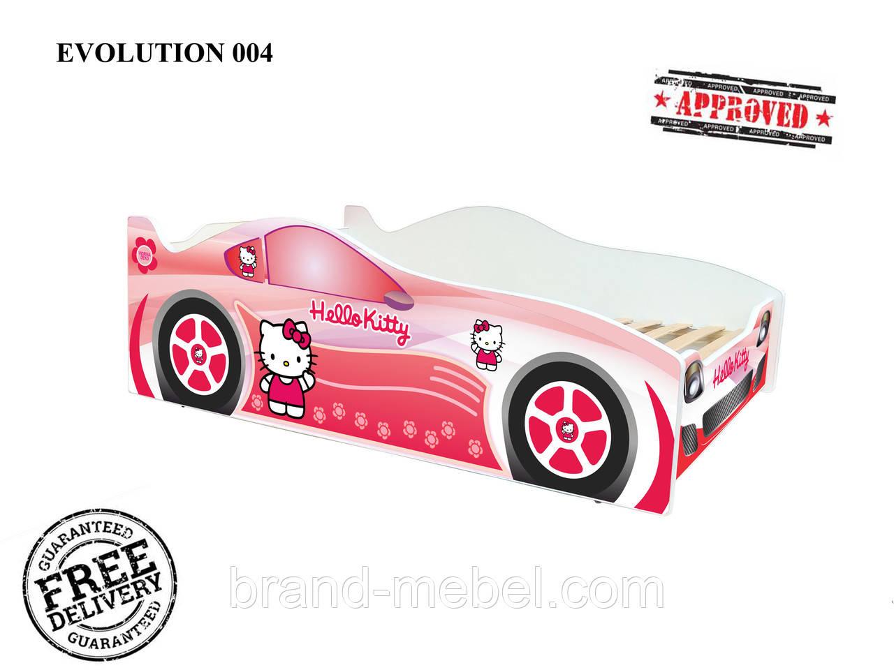 """Детская кровать машина Китти серии """"Evolution"""""""