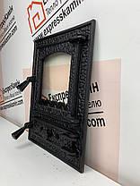 """Дверцы печные со стеклом """"BASTION"""" 370х510 Чугунные дверцы для печи кухни барбекю , фото 3"""